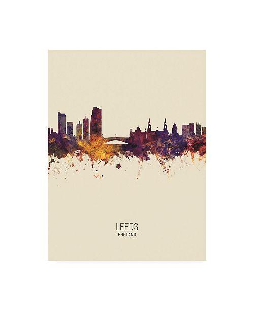 "Trademark Global Michael Tompsett Leeds England Skyline Portrait III Canvas Art - 27"" x 33.5"""