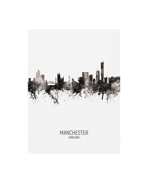 "Trademark Global Michael Tompsett Manchester England Skyline Portrait II Canvas Art - 36.5"" x 48"""