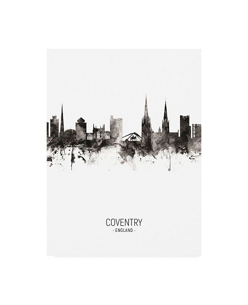"Trademark Global Michael Tompsett Coventry England Skyline Portrait II Canvas Art - 27"" x 33.5"""