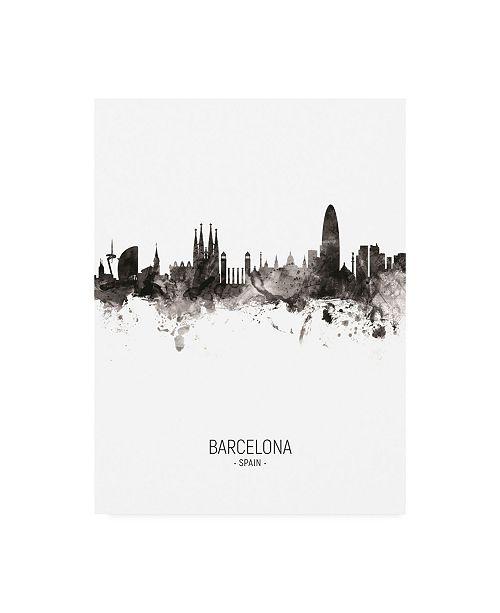 "Trademark Global Michael Tompsett Barcelona Spain Skyline Portrait II Canvas Art - 19.5"" x 26"""