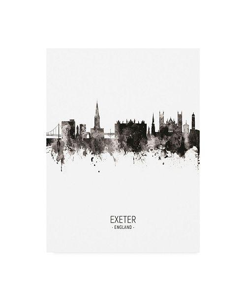 "Trademark Global Michael Tompsett Exeter England Skyline Portrait II Canvas Art - 19.5"" x 26"""
