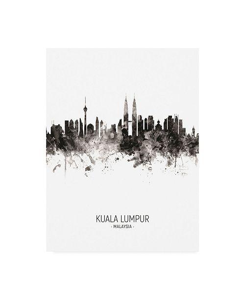 "Trademark Global Michael Tompsett Kuala Lumpur Malaysia Skyline Portrait II Canvas Art - 19.5"" x 26"""
