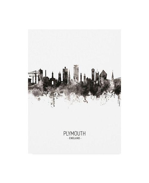 "Trademark Global Michael Tompsett Plymouth England Skyline Portrait II Canvas Art - 27"" x 33.5"""