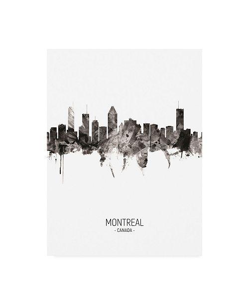 "Trademark Global Michael Tompsett Montreal Canada Skyline Portrait II Canvas Art - 15.5"" x 21"""