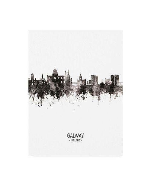 "Trademark Global Michael Tompsett Galway Ireland Skyline Portrait II Canvas Art - 19.5"" x 26"""