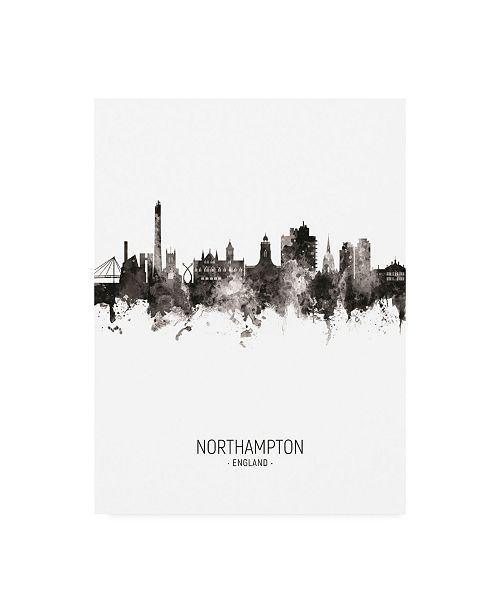 "Trademark Global Michael Tompsett Northampton England Skyline Portrait II Canvas Art - 15.5"" x 21"""