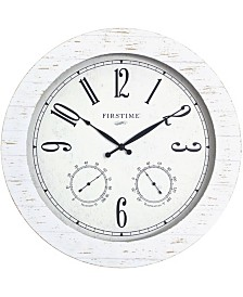 FirsTime & Co.® Shiplap Planks Outdoor Clock