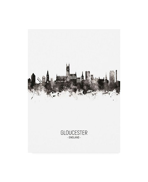 "Trademark Global Michael Tompsett Gloucester England Skyline Portrait II Canvas Art - 36.5"" x 48"""