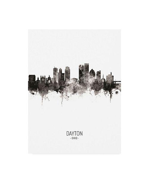 "Trademark Global Michael Tompsett Dayton Ohio Skyline Portrait II Canvas Art - 36.5"" x 48"""