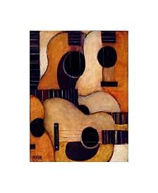 "Daniel Patrick Kessler Guitars Collage Canvas Art - 19.5"" x 26"""