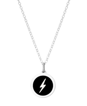 Mini Lightning Pendant Necklace in Sterling Silver and Enamel