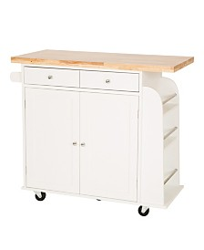 Wooden Kitchen Island with 2 Drawer and 2 Door