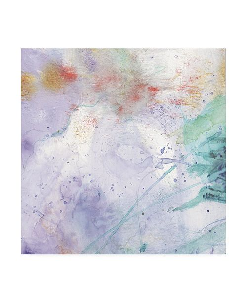 "Trademark Global Sheila Golden Purple Wind Abstract II Canvas Art - 15.5"" x 21"""