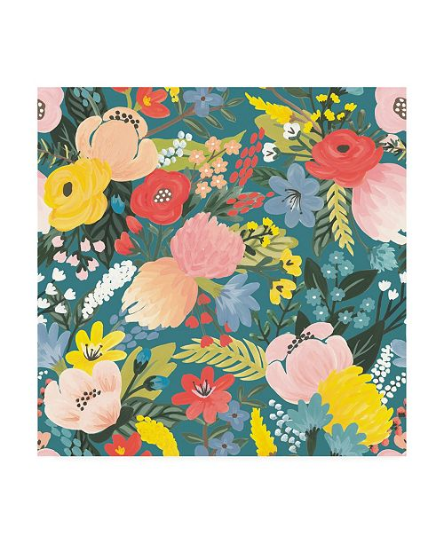 "Trademark Global Laura Marshall Wild Garden Pattern IA Canvas Art - 36.5"" x 48"""
