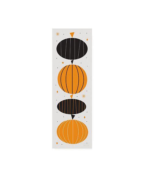 """Trademark Global Michael Mullan Festive Fright Pumpkins Canvas Art - 27"""" x 33.5"""""""
