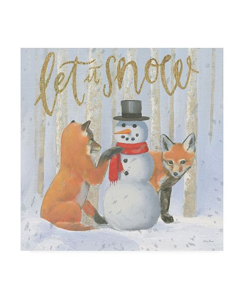 "Trademark Global Emily Adams Christmas Critters Bright III Canvas Art - 36.5"" x 48"""