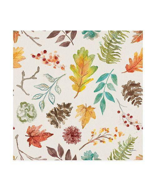 "Trademark Global Mary Urban Autumn Friends Pattern IIA Canvas Art - 15.5"" x 21"""