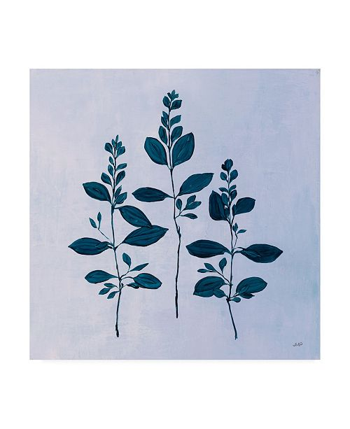 "Trademark Global Julia Purinton Botanical Study IV Blue Canvas Art - 15.5"" x 21"""