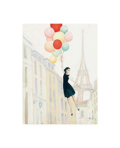"Trademark Global Julia Purinton Aloft in Paris II Canvas Art - 36.5"" x 48"""