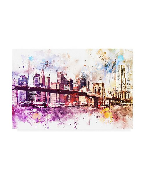 "Trademark Global Philippe Hugonnard NYC Watercolor Collection - New York Dreams Canvas Art - 19.5"" x 26"""