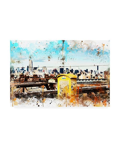 "Trademark Global Philippe Hugonnard NYC Watercolor Collection - Letter Box Canvas Art - 15.5"" x 21"""