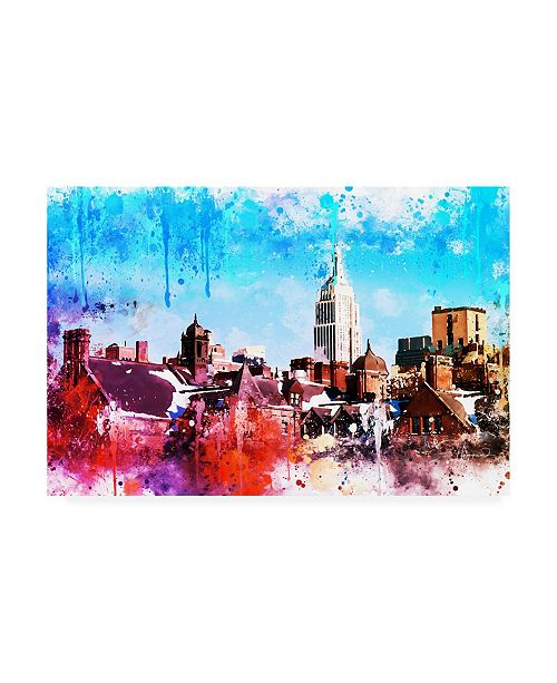 "Trademark Global Philippe Hugonnard NYC Watercolor Collection - on the Roofs Canvas Art - 36.5"" x 48"""