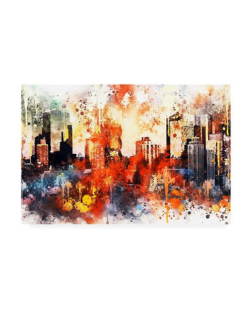 """Trademark Global Philippe Hugonnard NYC Watercolor Collection - Colors of Manhattan Canvas Art - 19.5"""" x 26"""""""