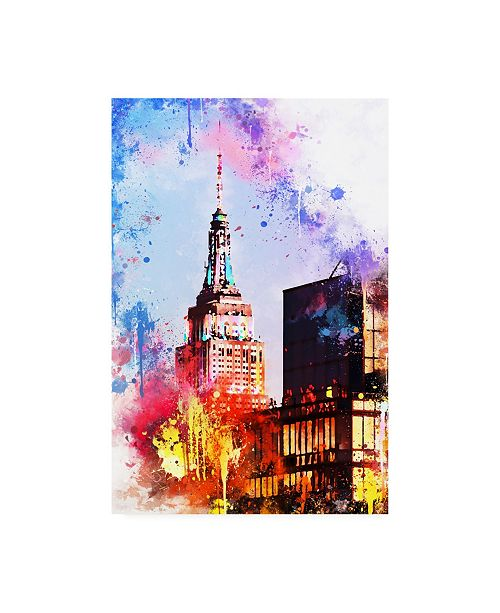 "Trademark Global Philippe Hugonnard NYC Watercolor Collection - at the Top of the Empire Canvas Art - 27"" x 33.5"""