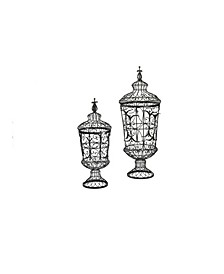 Brocade Urns, Set of 2