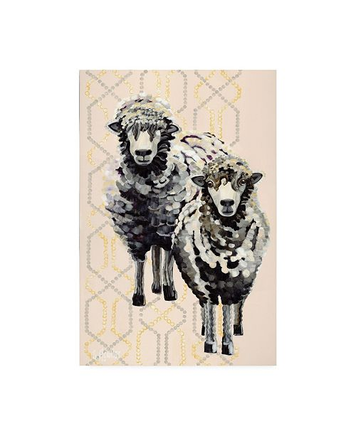 "Trademark Global Stephanie Aguila Woolly Two Canvas Art - 15.5"" x 21"""