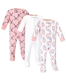 Zipper Sleep N Play, Dream Catcher, 3 Pack, 6-9 Months