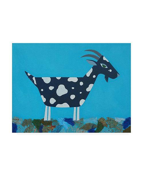 "Trademark Global Casey Crai Fergus the Goat Canvas Art - 27"" x 33.5"""