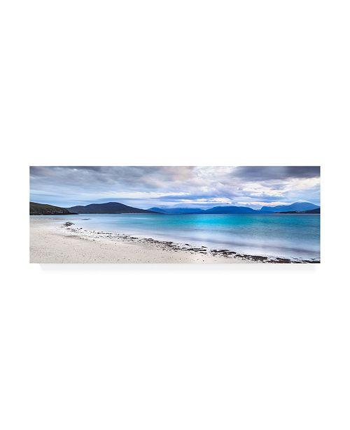 """Trademark Global Lynne Dougla Taransay Teal Canvas Art - 27"""" x 33.5"""""""