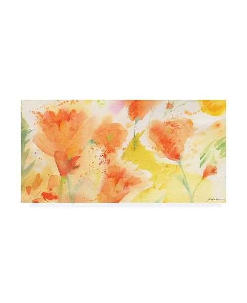 "Trademark Global Sheila Golde Windblown Poppies #1 Canvas Art - 36.5"" x 48"""