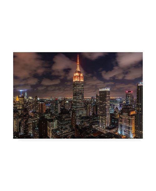 "Trademark Global Bruce Gett Orange 9-11 Canvas Art - 36.5"" x 48"""