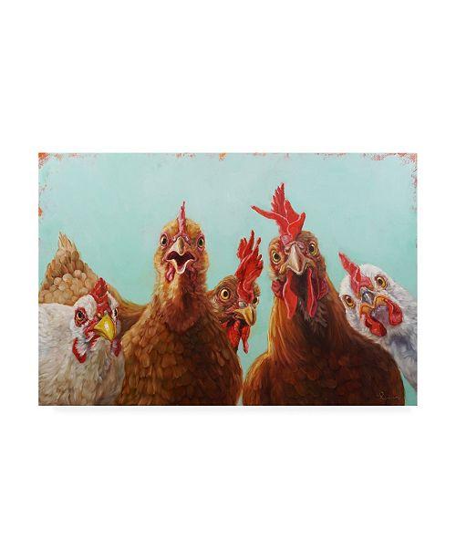 "Trademark Global Lucia Hefferna Chicken for Dinner Canvas Art - 19.5"" x 26"""