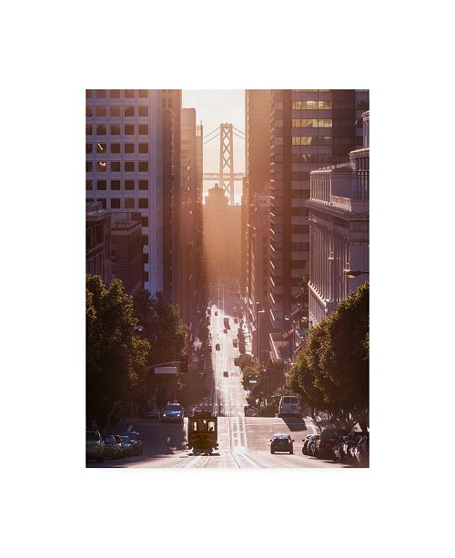 "Trademark Global Bruce Gett Morning Trolley Canvas Art - 36.5"" x 48"""