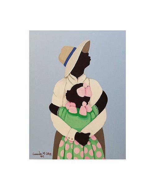 "Trademark Global Cassandra Gillen Daddy and Family Canvas Art - 19.5"" x 26"""