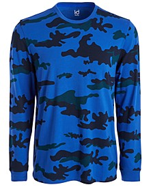 Men's Exploded Camo Long-Sleeve T-Shirt, Created for Macy's