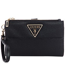 GUESS Aretha Signature Double Zip Organizer Wallet