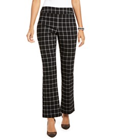 I.N.C. Windowpane Bootcut Pants, Created for Macy's