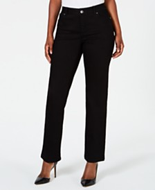 I.N.C. Curvy-Fit Straight-Leg Jeans with Tummy Control, Created for Macy's