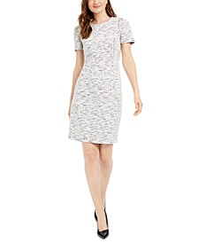 Stretch-Tweed Sheath Dress