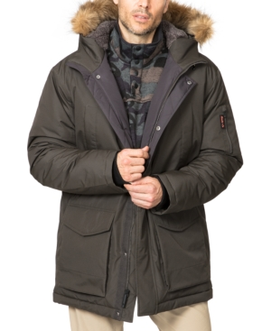 Hawke & Co. Outfitter Men's Big & Tall Long Snorkel Parka With Faux Fur Hood In Loden