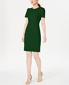 Faux-Suede Scuba Sheath Dress