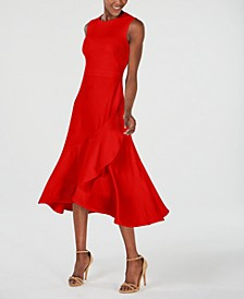Sleeveless Flounce-Hem A-Line Dress