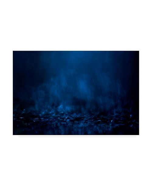 """Trademark Global Willy Marthinussen Blue Black Abstract Canvas Art - 20"""" x 25"""""""
