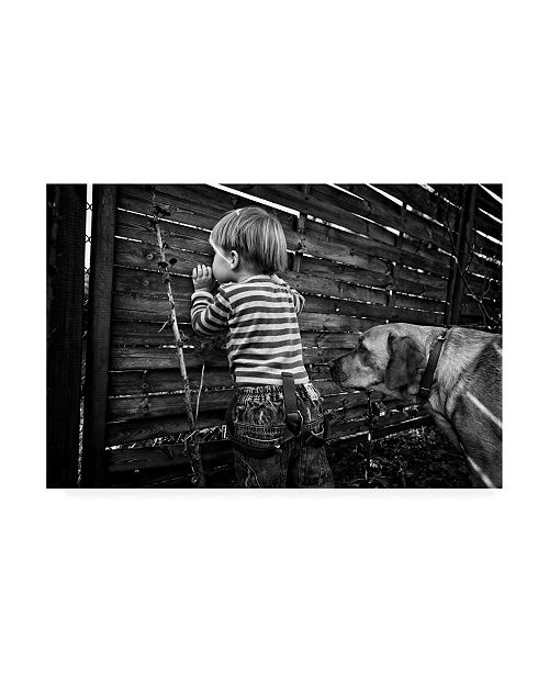 "Trademark Global Monika Strzelecka The World from Behind The Fence Canvas Art - 20"" x 25"""
