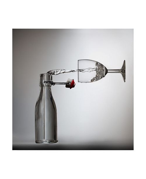 "Trademark Global Wieteke De Kogel Pouring Canvas Art - 15"" x 20"""