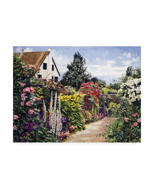 "Trademark Global David Lloyd Glover Rose House Garden Wall Canvas Art - 20"" x 25"""
